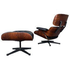 670-671 Ray and Charles Eames 1970 Rosewood Lounge