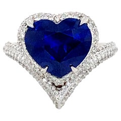 6.70 Carat Sapphire Ring
