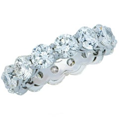 Vivid Diamonds 6.71 Carat Round Brilliant Cut Diamond Eternity Band