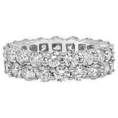 6.75 Carat Round Diamond Double-Row Eternity Wedding Band