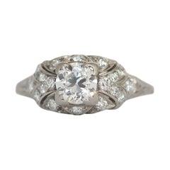 .68 Carat Diamond Platinum Engagement Ring