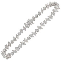6.80 Carat Diamond 18 Karat White Gold Bracelet