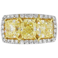 6.83 Carat Cushion Diamond Ring