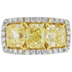 6.83 Carat Cushion Diamond Ring
