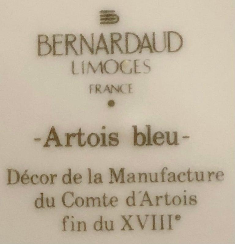 69-Piece Bernardaud Limoge Artois Bleu Dinnerware For Sale 8