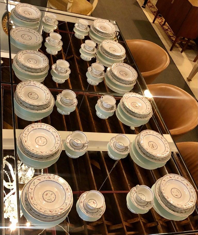 Louis XVI 69-Piece Bernardaud Limoge Artois Bleu Dinnerware For Sale