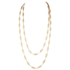 69.80 Grams Gold French Antique Long Necklace