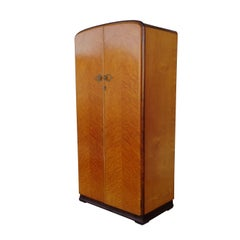 6FT Antique Art Deco Armoire