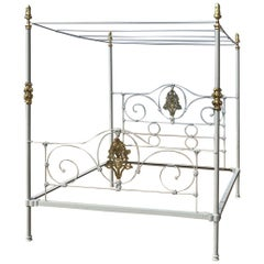 Cast Iron Antique Four-Poster Bed M4P32