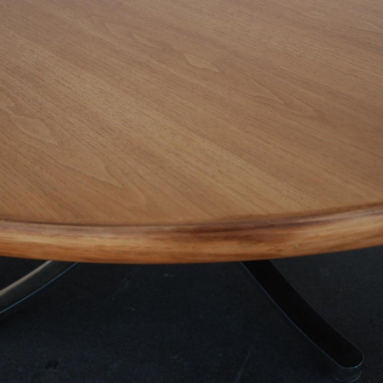 Stainless Steel Zographos Bleached Walnut Table with Stainless Base