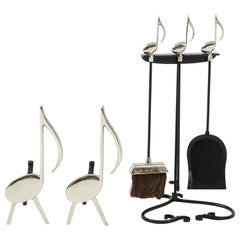 6pc Musical Note Fireplace Set