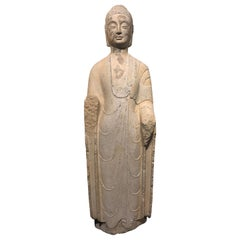 6th Century, Rare and Important Northern Qi Standing Buddha, Art of China