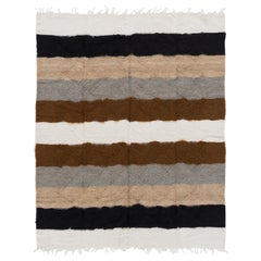 Soft Mohair Wool Kilim Rug, Floor Covering, Bed Cover, Sofa Throw