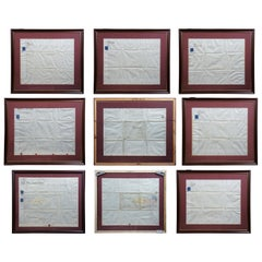 '7'19th Century British Real Estate Land Indentures Lease Documents 1867 Framed