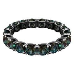 7 Сarat Bi-Color Marriage Sapphire 14 Karat Gold Infinity Ring