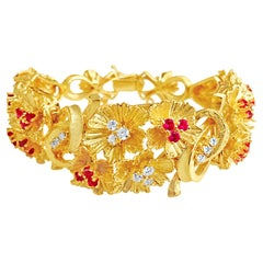 7 Carat Burma Ruby and Diamond Bracelet