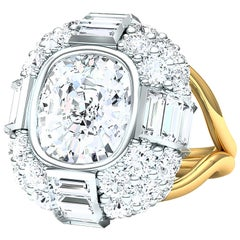 7 Carat Cushion Diamond Engagement Ring