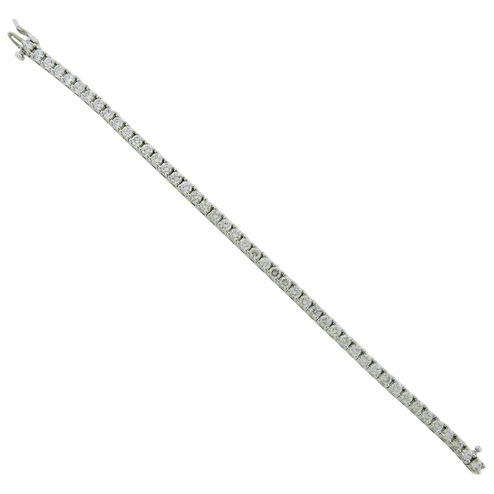 7 Carat Diamond 14 Karat White Gold Tennis Bracelet