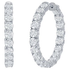 7 Carat Diamond Hoop Earrings