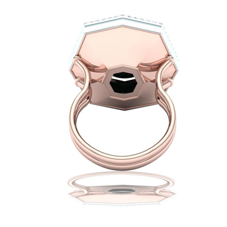 7 Carat GIA Certified Jadeite Purple Sapphire and Diamond Ring For Sale 5