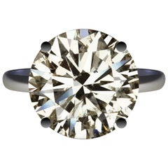 7 Carat Natural Diamond Certified Round Brilliant Ideal Cut Untreated 7 Carat