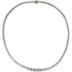 7 Carat Round Brilliant Diamond Tennis Necklace