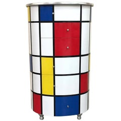 7-Drawer Chest Inspired by Mondrian