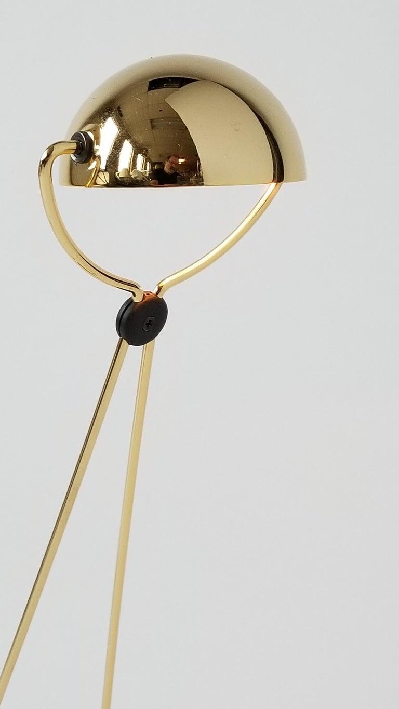 7 Gold-Plated Halogen Table Lamp 'Meridiana' by Stephano Cevoli, 1980s, Italia For Sale 4