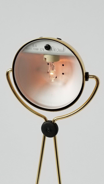 Modern 7 Gold-Plated Halogen Table Lamp 'Meridiana' by Stephano Cevoli, 1980s, Italia For Sale