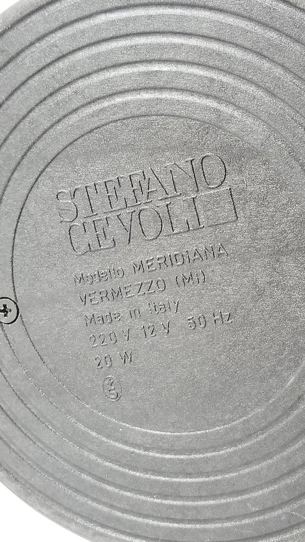 Italian 7 Gold-Plated Halogen Table Lamp 'Meridiana' by Stephano Cevoli, 1980s, Italia For Sale