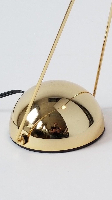 7 Gold-Plated Halogen Table Lamp 'Meridiana' by Stephano Cevoli, 1980s, Italia For Sale 3