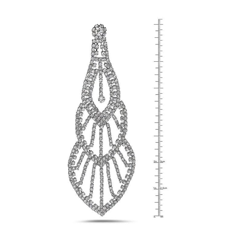 Modern Emilio Jewelry 110.00 Carat Diamond Red Carpet Earrings For Sale