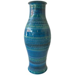 7 Large Bitossi Blue Rimini Flavia Montelupo Vases