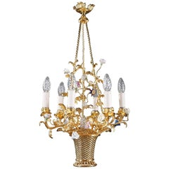 7-Light Basket-Shaped Chandelier
