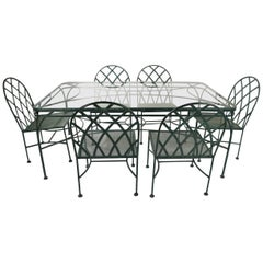 7 Piece Glass Top Patio Dining Set after Shaver Howard