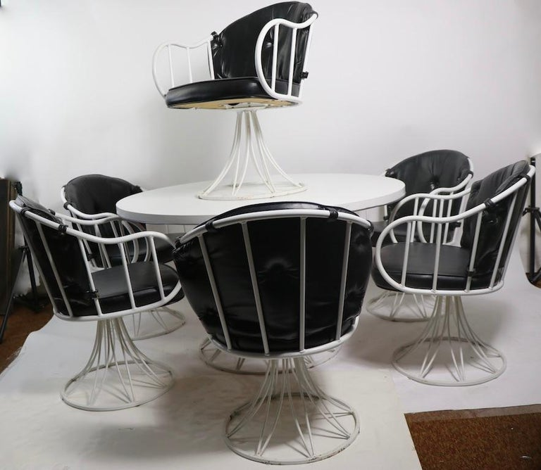 7 Piece Richard McCarthy for Selrite Dining Set For Sale 9