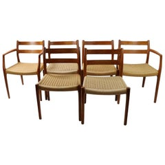 7 Pc, Teak Danish Modern Dining Chairs by Moller