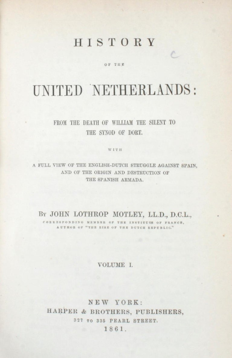 American 7 Volume Leather Bound Set, Dutch Republic and United Netherlands, First Edition For Sale