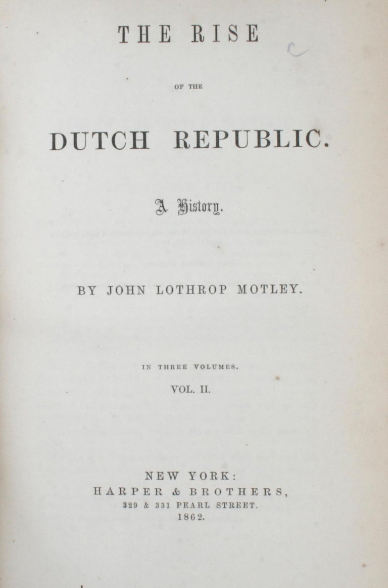 7 Volume Leather Bound Set, Dutch Republic and United Netherlands, First Edition For Sale 1