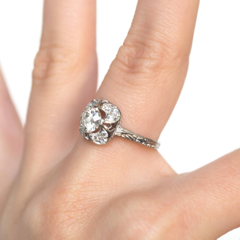 Engagement Rings On Sale Newcastle: .70 Carat Diamond Platinum Engagement Ring For Sale At 1stdibs