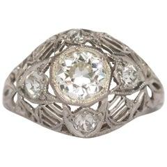 .70 Carat Diamond Platinum Engagement Ring