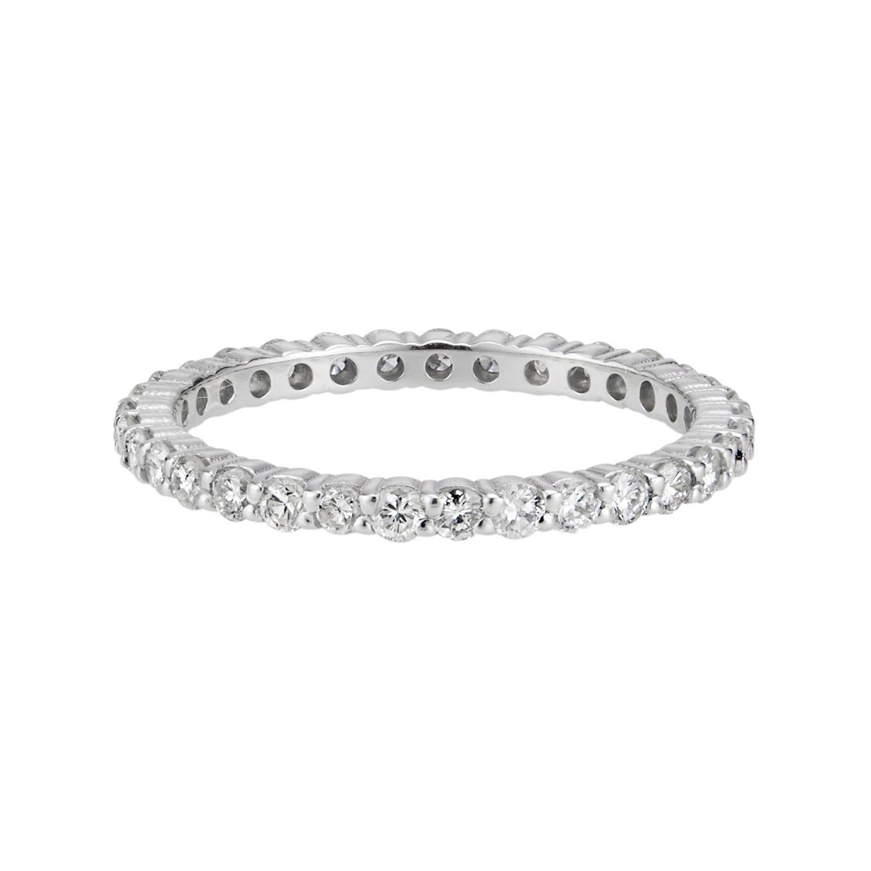 .70 Carat Round Diamond Platinum Eternity Band Ring