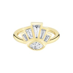 .70 Carat Tapered Baguettes and Marquise Diamond Cocktail Ring