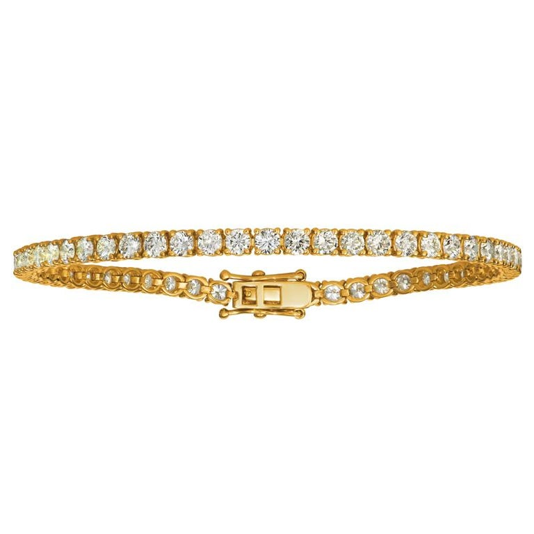 7.00 Carat Natural Diamond Tennis Bracelet G SI 14K Yellow Gold 7''  100% Natural Diamonds, Not Enhanced in any way Round Cut Diamond Tennis Bracelet 7.00CT G-H SI 14K Yellow Gold, prong style 7 inches in length  B5882-7Y  ALL OUR ITEMS ARE