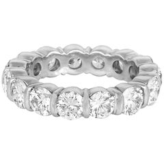 7.00 Carat Round Cut Diamond Eternity Band