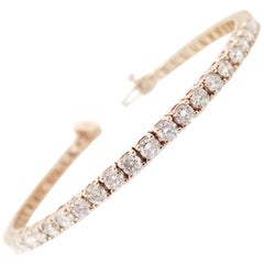 White Diamond Tennis Bracelets