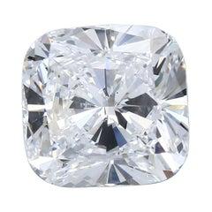 7.03 Carat Cushion Cut Diamond Ring GIA Certified