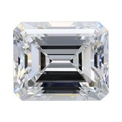 7.04 Carat Emerald Cut Diamond Ring GIA Certified