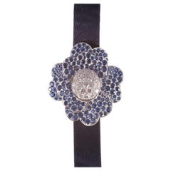 7.06 Carat Blue Sapphire and 3.32 Carat Diamond Van Cleef & Arpels Cosmos Watch