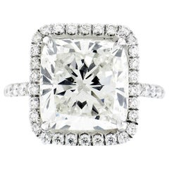 7.06 Carat Cushion Cut GIA Certified Engagement Ring